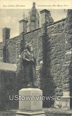 Benj. Silliman Monument, Yale University - New Haven, Connecticut CT Postcard
