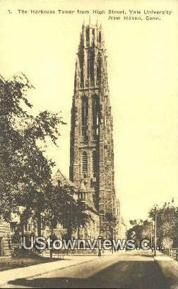 Harkness Tower, Yale University - New Haven, Connecticut CT Postcard