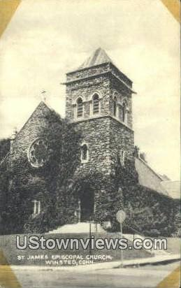 St James Episcopal Church - Winsted, Connecticut CT Postcard