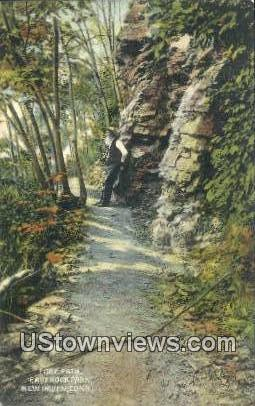 Foot Path, East Rock Park - New Haven, Connecticut CT Postcard