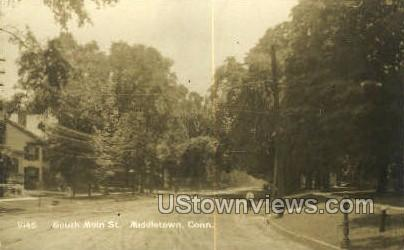 Real Photo South Main Street - Middletown, Connecticut CT Postcard