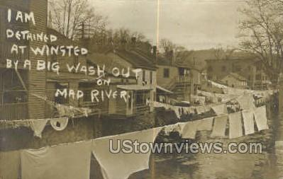 Big Wash Out on Mad River - Winsted, Connecticut CT Postcard