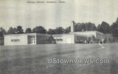 Bungay School - Seymour, Connecticut CT Postcard