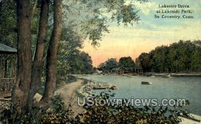 Lakeside Park - South Coventry, Connecticut CT Postcard