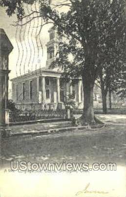Congregational Church - Stonington, Connecticut CT Postcard