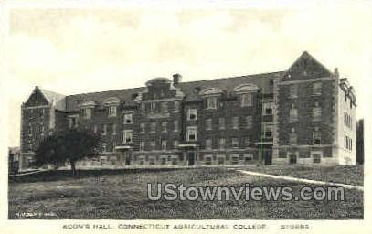 Connecticut Agricultural College - Storrs Postcard
