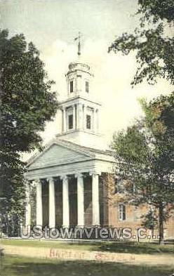 Baptist Church - Suffield, Connecticut CT Postcard