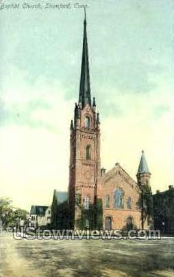 Baptist Church - Stamford, Connecticut CT Postcard