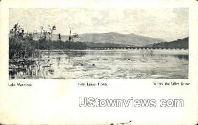 Lake Washining - Twin Lakes, Connecticut CT Postcard