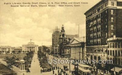 Public Library - New Haven, Connecticut CT Postcard