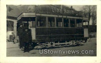 Trolley Cirage Creame Lion Noir - Misc, Connecticut CT Postcard