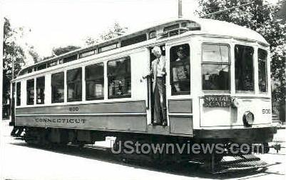 Reproduction - Trolley 500 - Misc, Connecticut CT Postcard