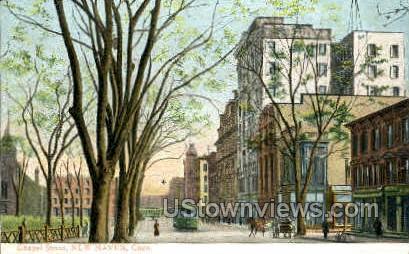 Chapel Street - New Haven, Connecticut CT Postcard