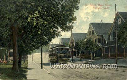 Main Street - Putnam, Connecticut CT Postcard