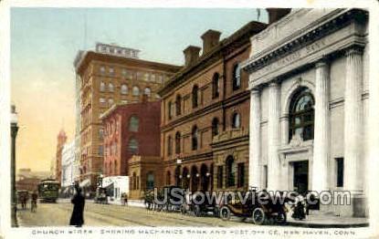 Church Street - New Haven, Connecticut CT Postcard