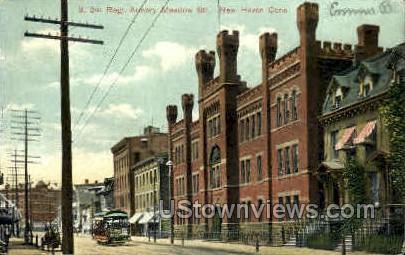 Second Regiment Armory - New Haven, Connecticut CT Postcard
