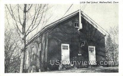 Little Red School - Wethersfield, Connecticut CT Postcard