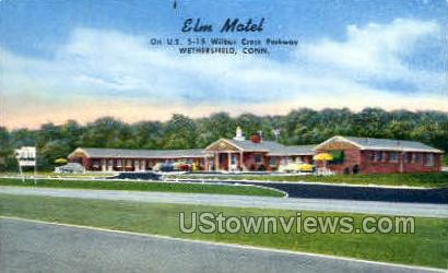 Elm Motel - Wethersfield, Connecticut CT Postcard