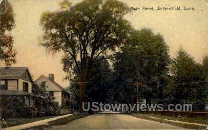 Main Street - Wethersfield, Connecticut CT Postcard
