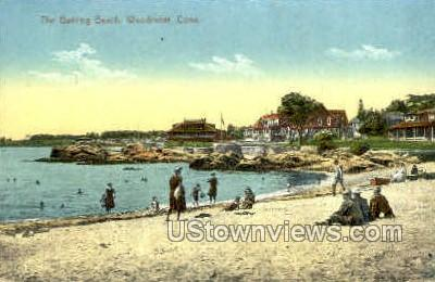 Bathing - Woodmont, Connecticut CT Postcard