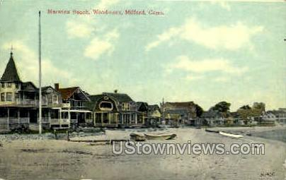 Merwin's Beach - Woodmont, Connecticut CT Postcard