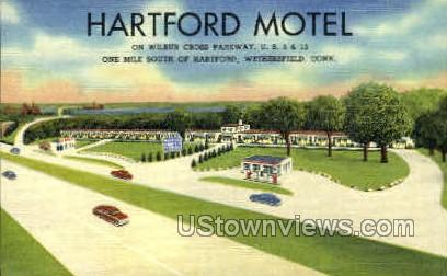 Hartford Motel - Wethersfield, Connecticut CT Postcard