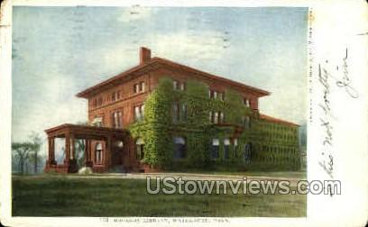 Bronson Library - Waterbury, Connecticut CT Postcard