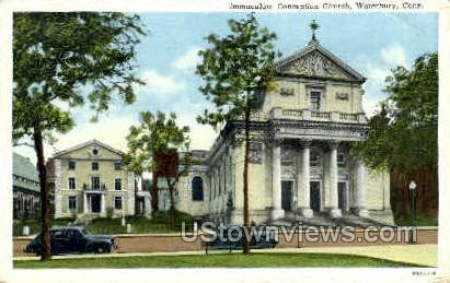 Immaculate Conception Church  - Waterbury, Connecticut CT Postcard