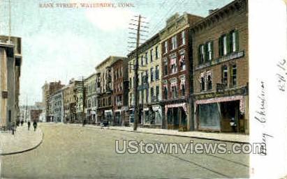 Bank Street - Waterbury, Connecticut CT Postcard
