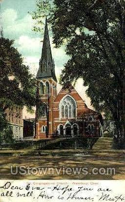 Congregational Church - Waterbury, Connecticut CT Postcard