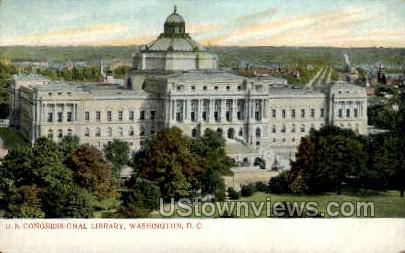 US Congressional Library - District Of Columbia Postcards, District of Columbia DC Postcard