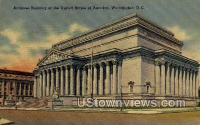 Archives Building - District Of Columbia Postcards, District of Columbia DC Postcard