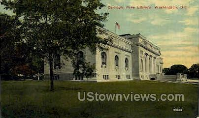 Carnegie Free Library - District Of Columbia Postcards, District of Columbia DC Postcard
