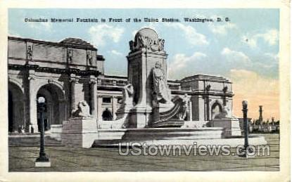 Columbus Memorial Fountain - District Of Columbia Postcards, District of Columbia DC Postcard