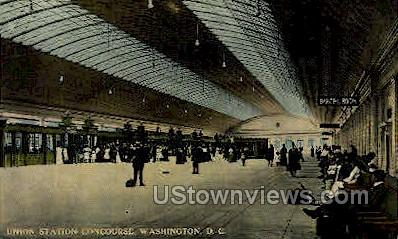 Union Station Concourse - District Of Columbia Postcards, District of Columbia DC Postcard