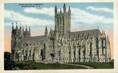 Washington Cathedral - District Of Columbia Postcards, District of Columbia DC Postcard