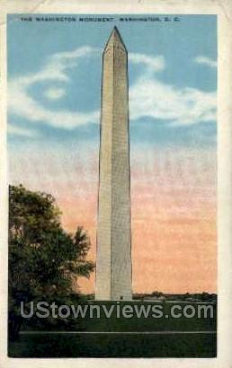 The Washington Monument - District Of Columbia Postcards, District of Columbia DC Postcard