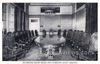 Governing Board Room - District Of Columbia Postcards, District of Columbia DC Postcard