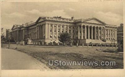 The Treasury - District Of Columbia Postcards, District of Columbia DC Postcard