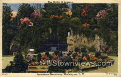 The Grotto of Lourdes - District Of Columbia Postcards, District of Columbia DC Postcard