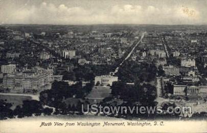 Washington Monument, North View - District Of Columbia Postcards, District of Columbia DC Postcard