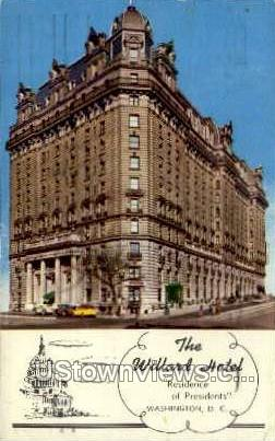 The Willard Hotel - District Of Columbia Postcards, District of Columbia DC Postcard