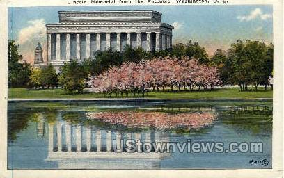 Lincoln Memorial from The Potomac - District Of Columbia Postcards, District of Columbia DC Postcard