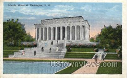 Lincoln Memorial - District Of Columbia Postcards, District of Columbia DC Postcard