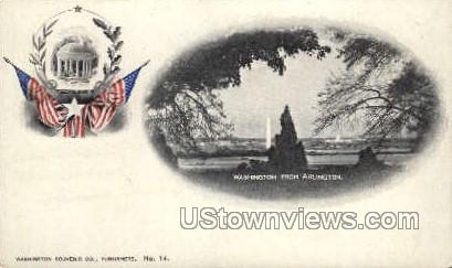 Washington from Arlington - District Of Columbia Postcards, District of Columbia DC Postcard