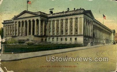 United States Treasury - District Of Columbia Postcards, District of Columbia DC Postcard