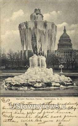Frozen Bartholdi Fountain - District Of Columbia Postcards, District of Columbia DC Postcard
