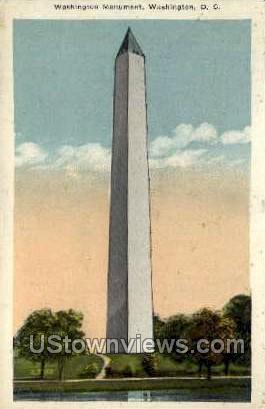 Washington Monument - District Of Columbia Postcards, District of Columbia DC Postcard