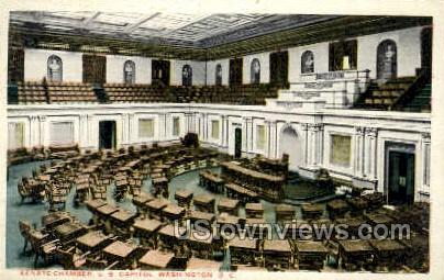 Senate Chamber, U.S. Capitol Building - District Of Columbia Postcards, District of Columbia DC Postcard