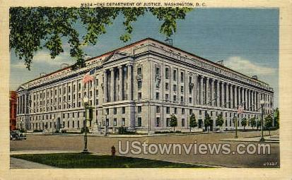 The Department of Justice - District Of Columbia Postcards, District of Columbia DC Postcard